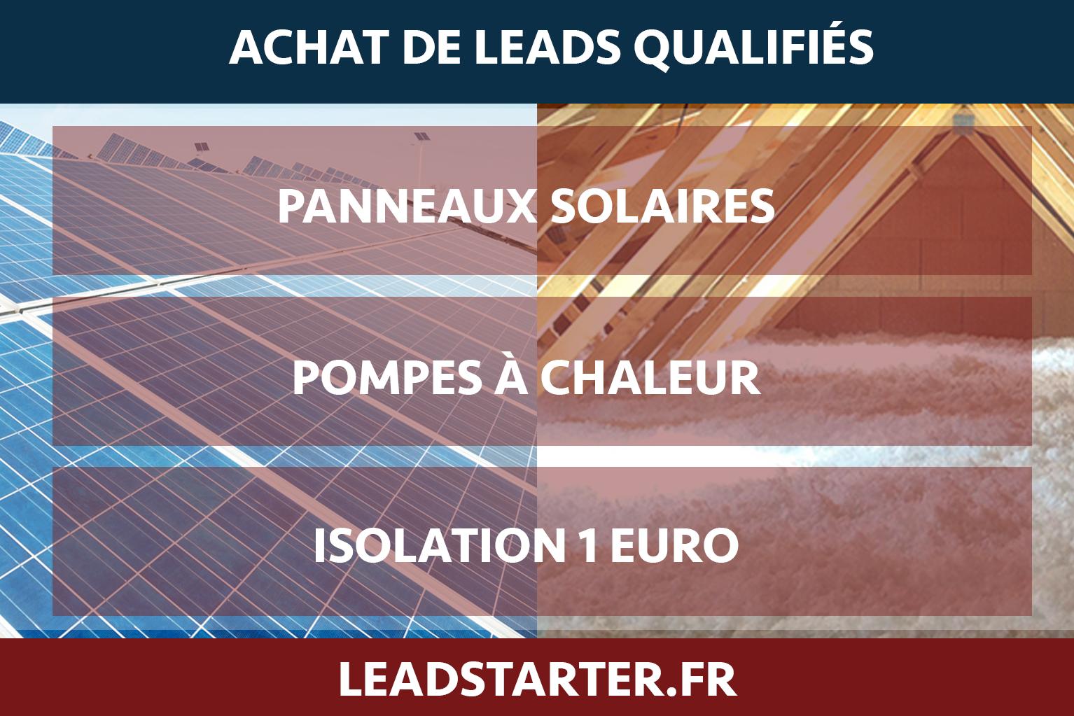 panneaux solaires - pompes à chaleur - isolation 1 euro
